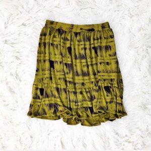 Anthropologie Deletta print knit skirt